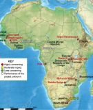 Map of Africa showing the location of the dams in the PIDA Report