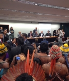"""The Munduruku and other indigenous peoples were yelling """"assassins!"""" as the ruralistas left the room."""