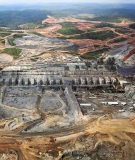 The massive destruction of the Amazon for the Belo Monte Dam is undeniable when seen from above.