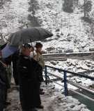 Members of the Court of Arbitration and representatives during a field visit to the Neelum river valley in February 2012