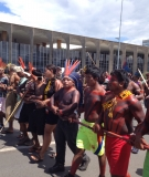 Indigenous People March in Defense of their Rights in Brasília