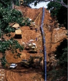 The World Bank's Chad-Cameroon pipeline under construction