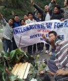 River ritual along the Teesta as part of the March 14th International Day of Action for Rivers