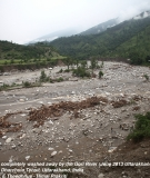 homes, farms and roads are washed away along the Gori River