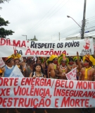 At the global march of the People's Summit, signs and chants against Belo Monte were a central theme