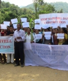 Protest by villagers in Chadong