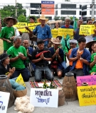 A ceremony for the Mekong held outside Thailand's Administrative Court in August 2012