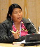 Weni Bagama, speaking at the Human Rights in the CDM side event