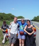 Lori and friends in Mozambique, 2007