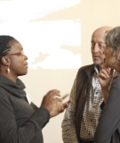 International Rivers' Africa team confers with Dr. Sean Avery