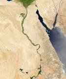 The Nile in Egypt: Lifeline in a desert. (NASA)