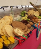 An offering of food at the opening of events in Temaca
