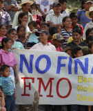 Indigenous protest against FMO support for the Agua Zarca Dam