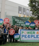 Protest against the World Bank's energy policy in Washington DC