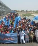 Protest against destructive dam building on the Indus