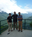 Samir with colleagues during his trip to Dzongu