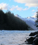 The Baker River in Patagonia.