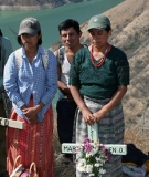 Group graves for massacre victims in Guatemala.