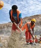Men at work on the Grand Ethiopian Renaissance Dam (GERD)