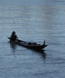 A boat on the Mekong in Laos.