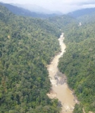 A view of the Murum River, where the Murum Dam is located