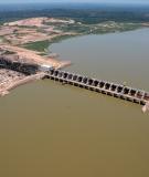 Construction of the Jirau hydroelectric dam in Brazil.