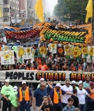 The People's Climate March ushers thousands of people through New York City.