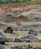 Construction continues at the Belo Monte Dam work sites, outside of the towns of Altamira and Vitória do Xingu.