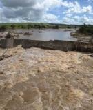 Dam burst on  Mundaú River, Rio Largo town, in the state of Alagoas