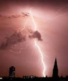 Lightening over London