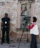 Carla filming in Temaca