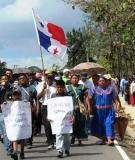Ngobe People Protesting- Cortesia de Patria Grande