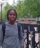 Closed door policy: Ikal Angelei at the gates of ICBC in Beijing