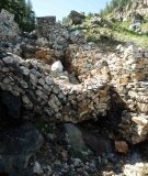 Wall meant to protect the stream from debris of Parbati II project collapsed into the stream at Raila Village.