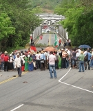 M10 protest on the Pan-American Highway, 2011