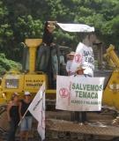 Protest at El Zapotillo Dam Site