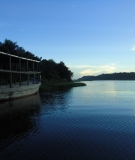A boat on the mighty – but threatened – Tapajós River