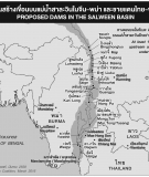 Map of proposed dams on the Salween River