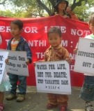 A Day of Action protest against India's plans to dam Burma's rivers.