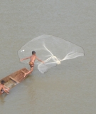 Boys fishing in the Xe Bang Fai River, Laos.