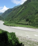 The Seti River in Western Nepal, site of the planned 750MW West Seti project.