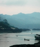 The Mekong River, downstream of the proposed Xayaburi Dam site