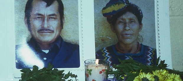 Two of the over four hundred indigenous Maya-Achi people massacred during the construction of Chixoy Dam in Guatemala.