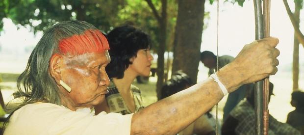 Xavante indigenous meeting on threats to Araguaia River