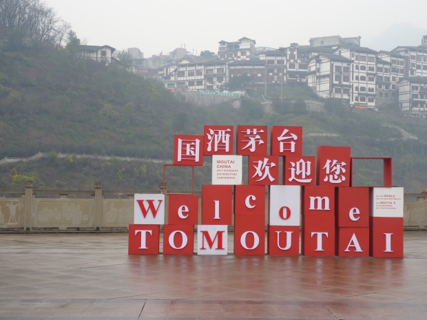 The welcome sign in Moutai.