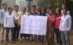 Dam affected villagers from the Sesan and Srepok rivers support Alex