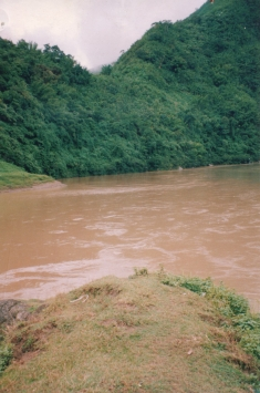 Site of the proposed Tipaimukh Dam on the Barak River in India.