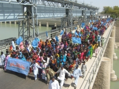 Citizens in Pakistan participate in a long march from March 2nd to March 14th, 2010 to support the rehabilitation and restoration of the Indus River Delta.