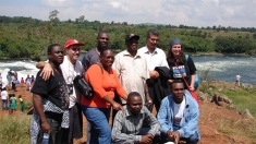 A few members of ARN at the Bujagali dam site (2006).
